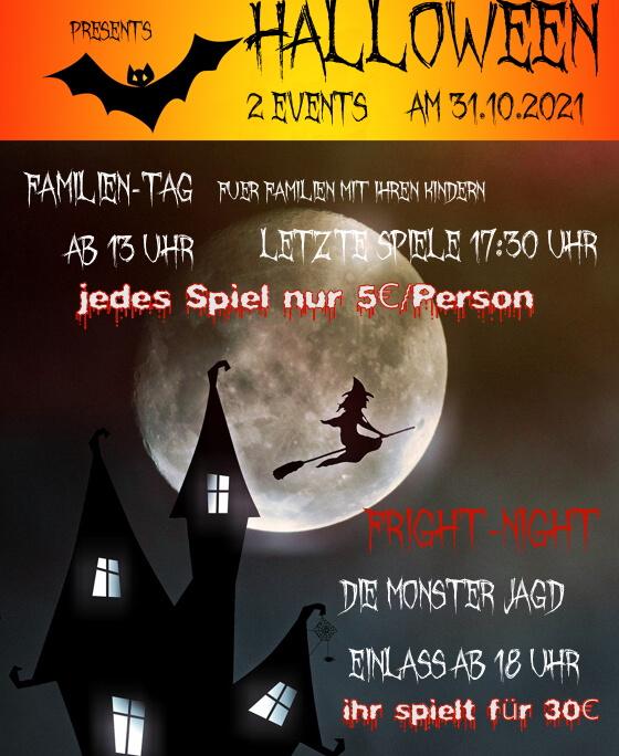 Halloween Events - FamilyTag und Fright-Night